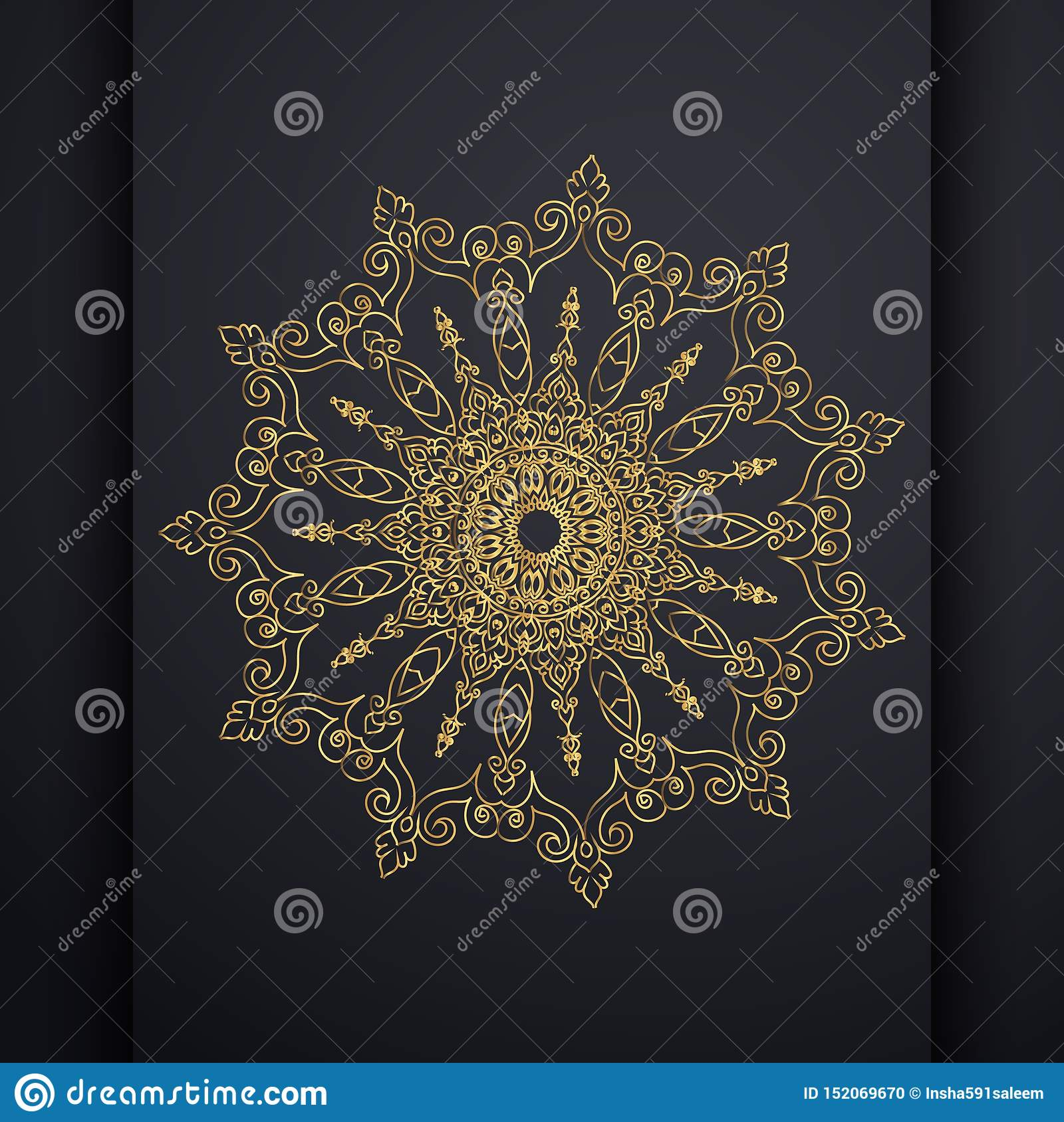 Islamic vertical banners with arabesque mandala for greeting card, poster and voucher.
