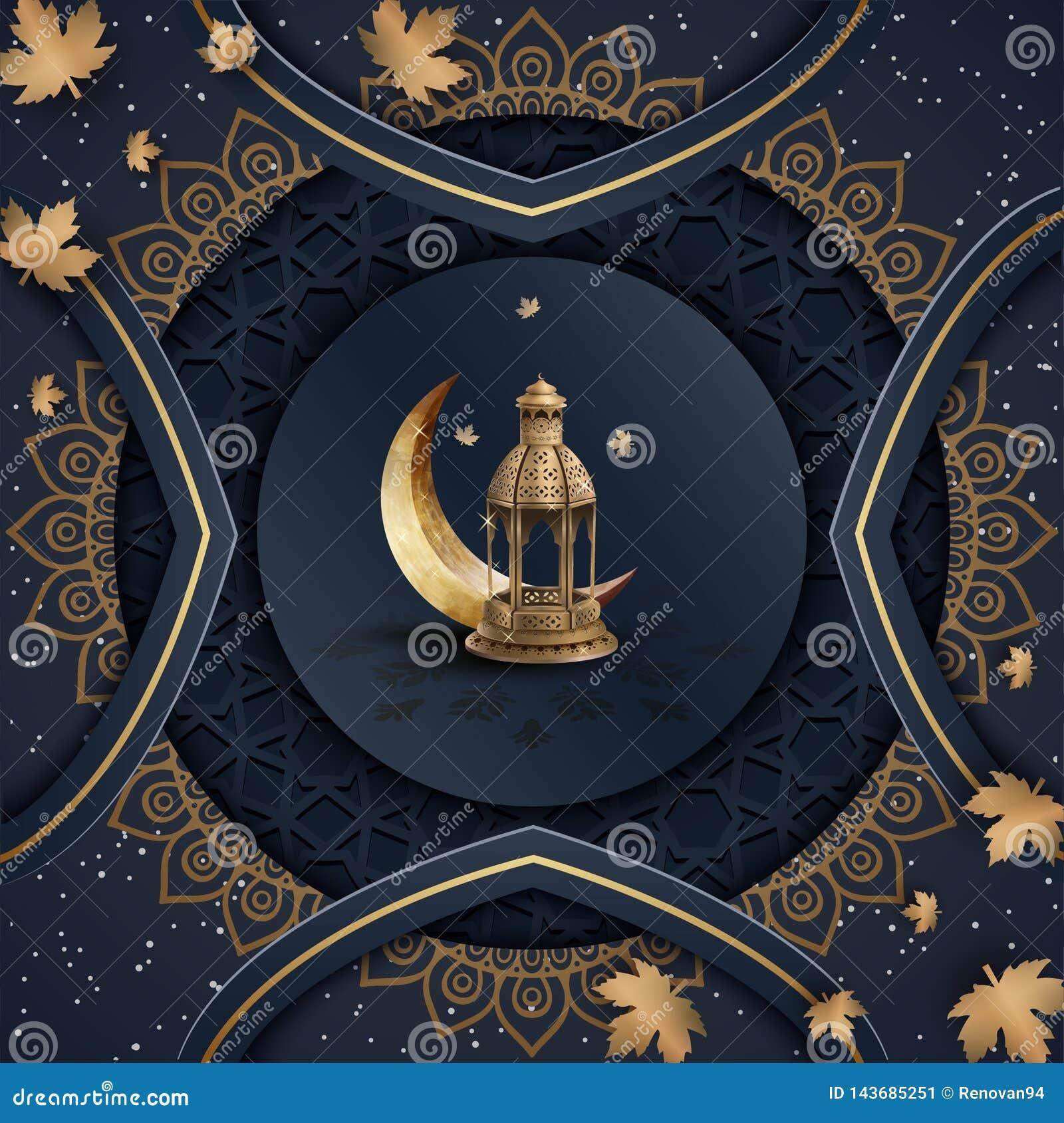 Islamischer Grußramadan-kareem Hintergrund-Schablonenentwurf