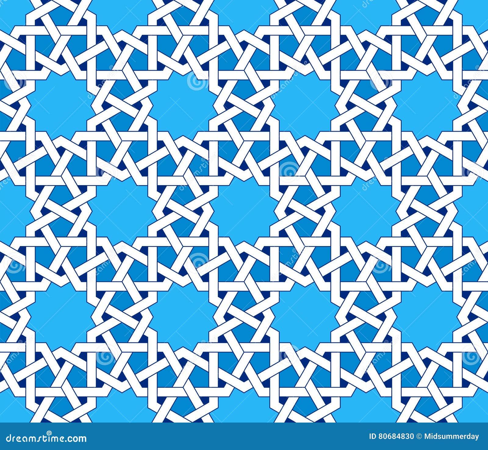 islamisches nahtloses muster orientalische geometrische
