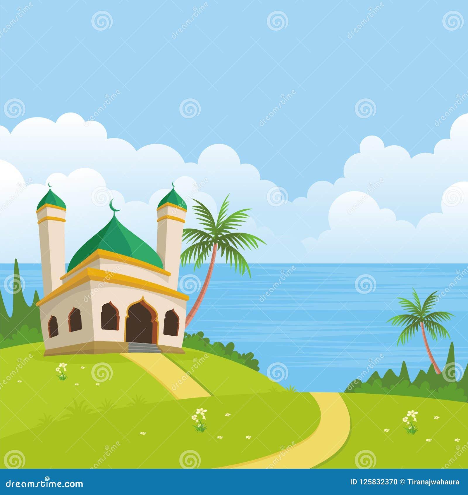 Islamitisch Aardlandschap met moskee