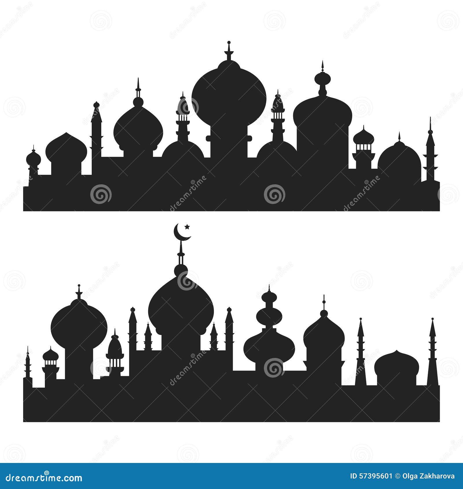 Islamitische Stadssilhouetten