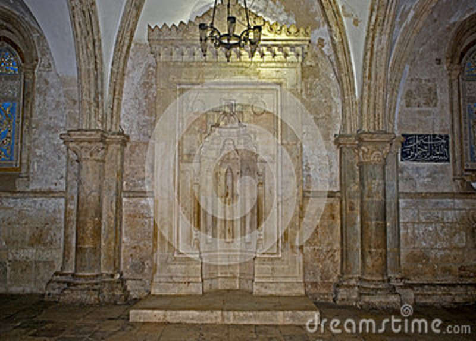 Islamski mihrab w Coenaculum, Jerozolima, Izrael