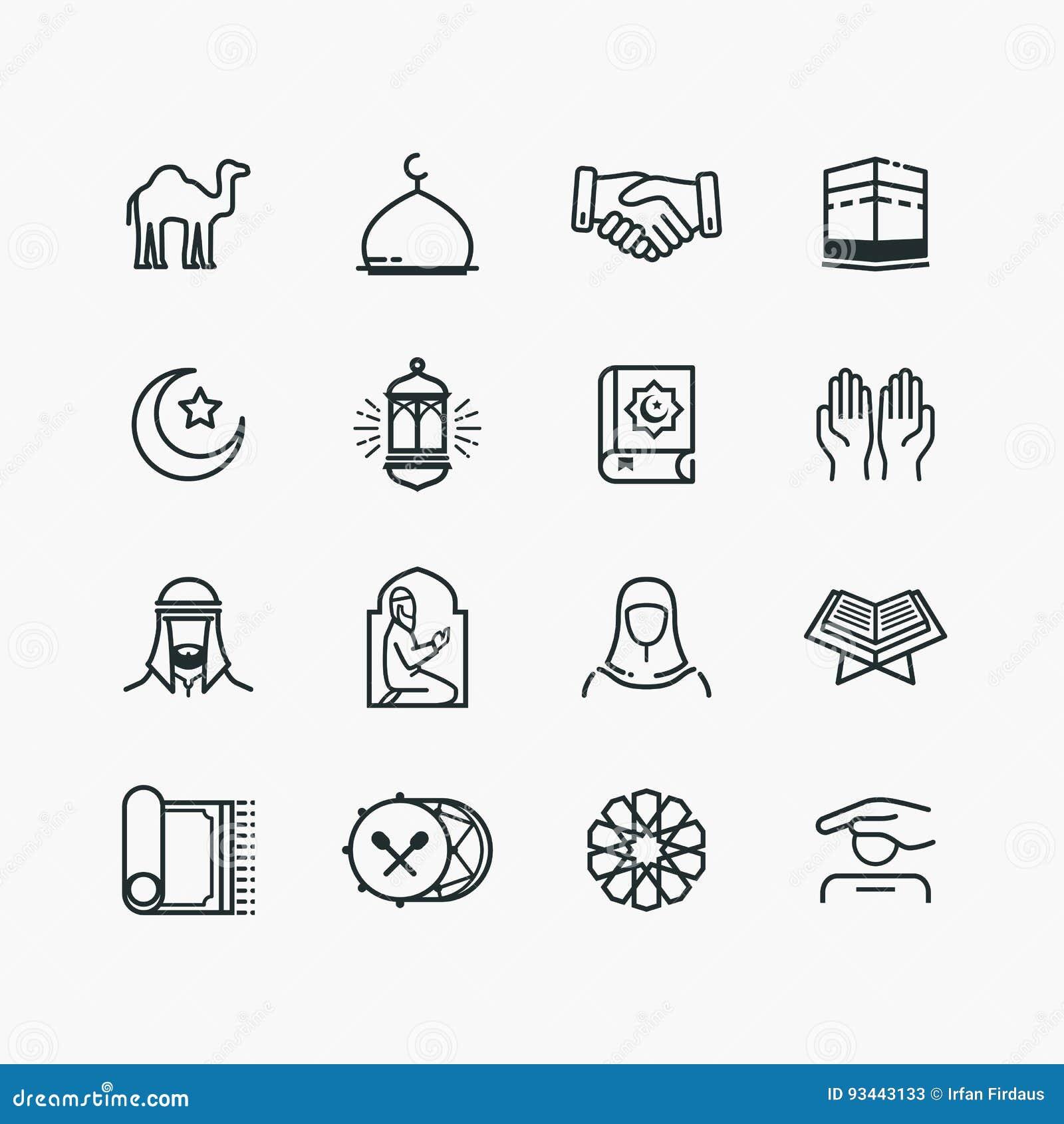 Islamskie Kreskowej sztuki ikony Ustawiać