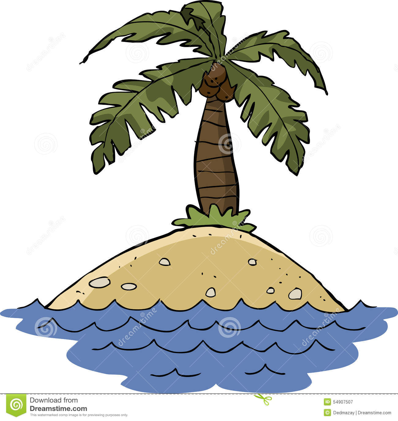 Island stock vector. Image of design, sand, south, drawing ...