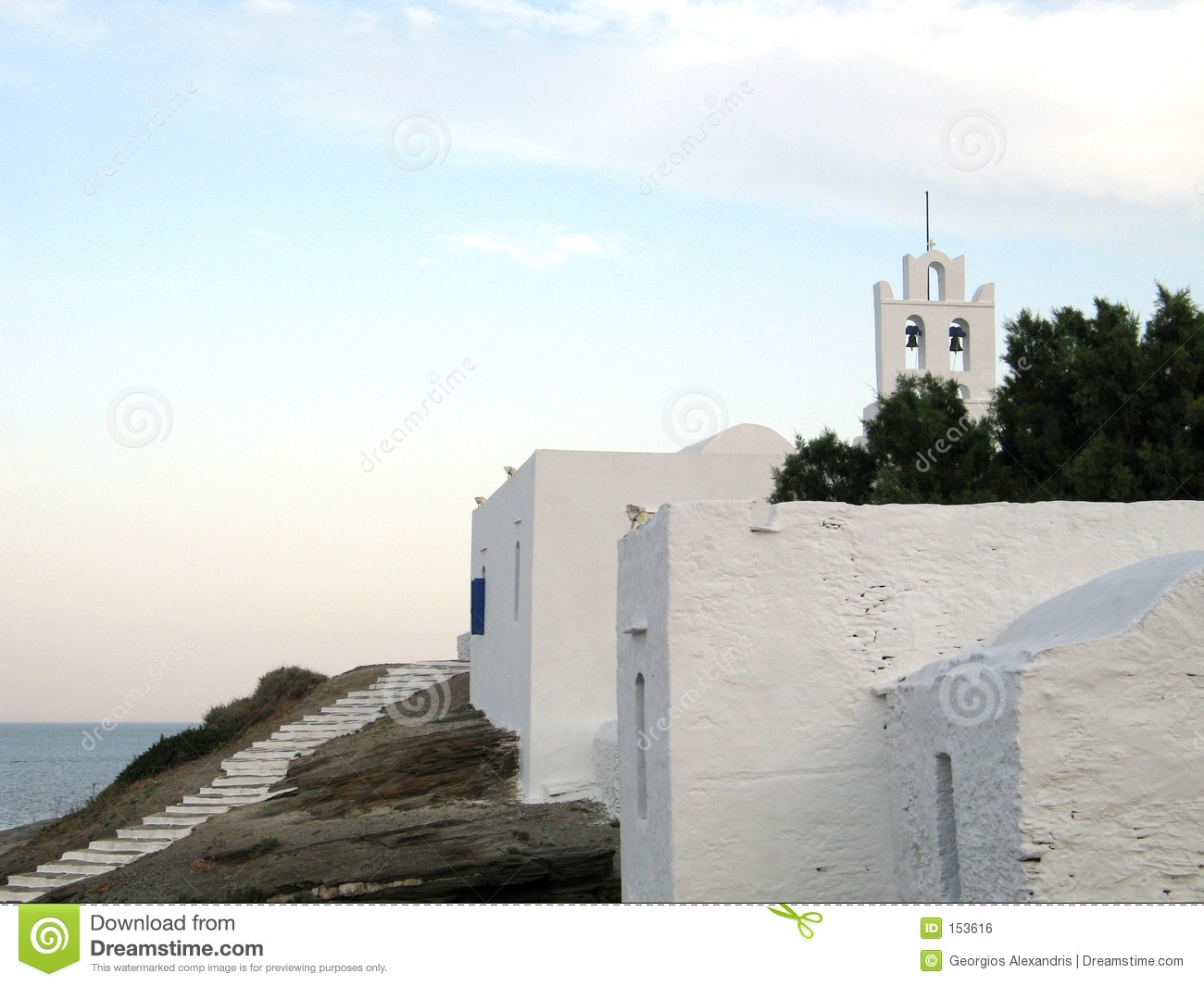 Island Church During the Late Afternoon