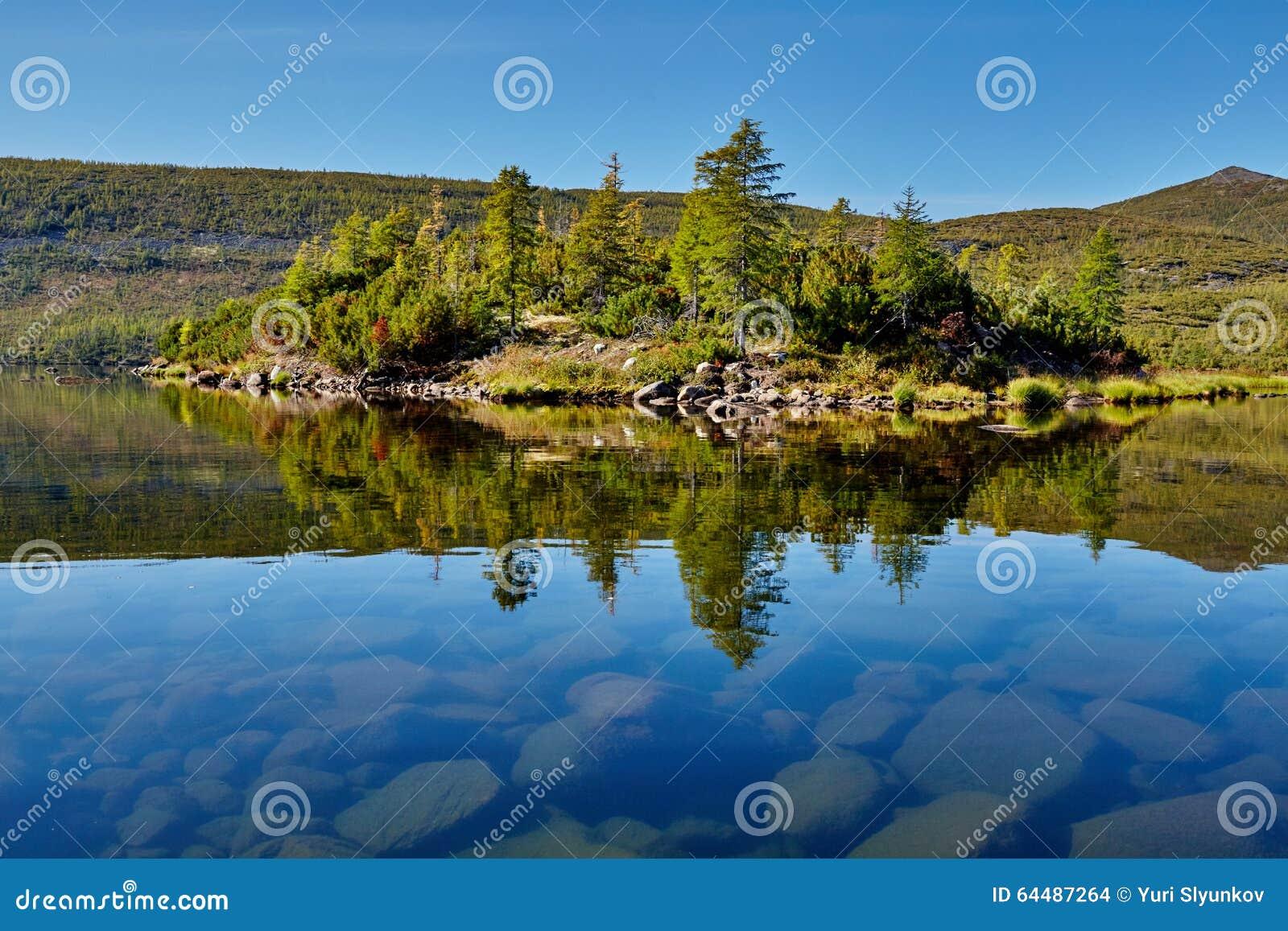 Island. Jack Londons lake. Kolyma