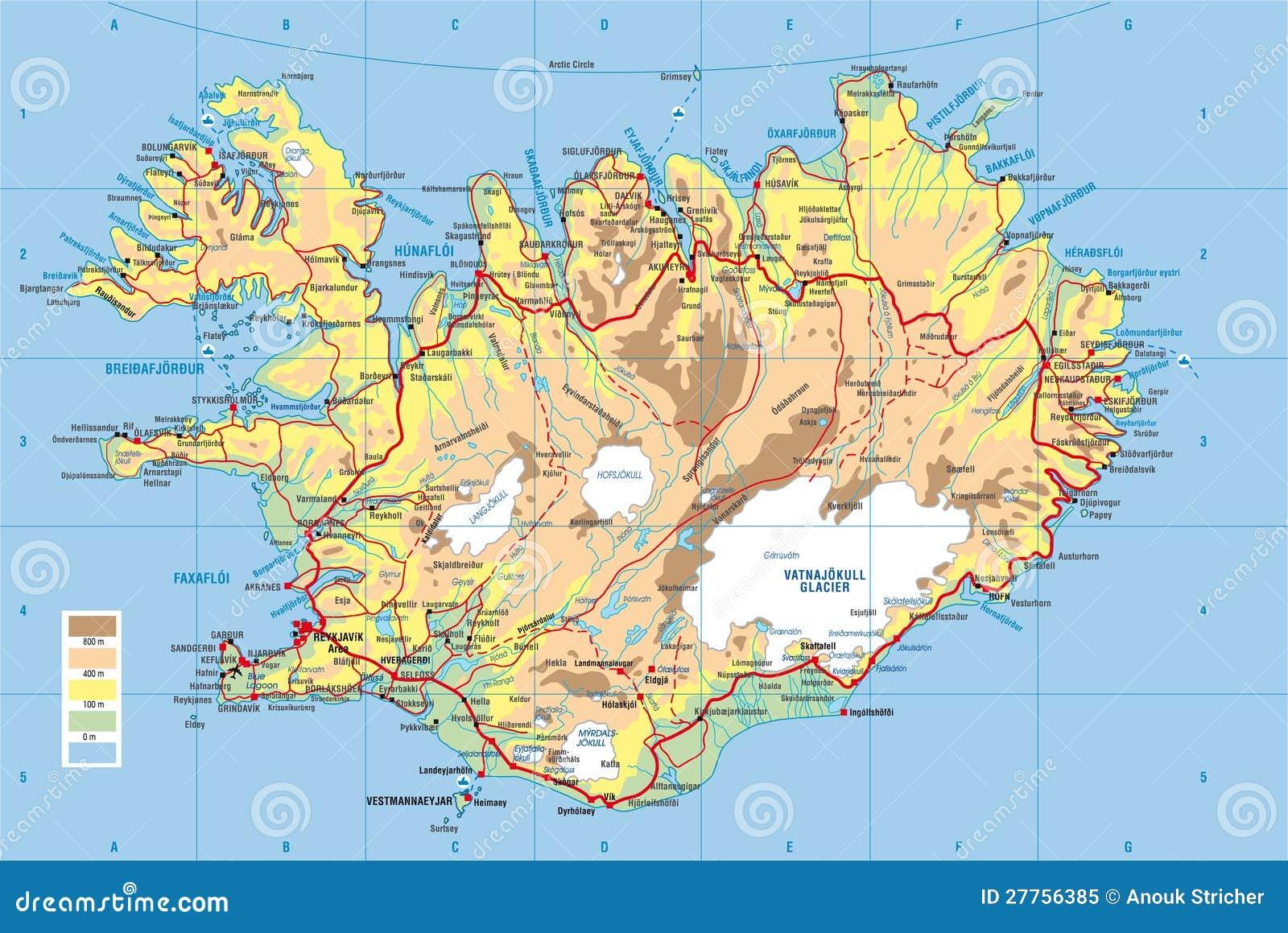 Carte Islande Laki