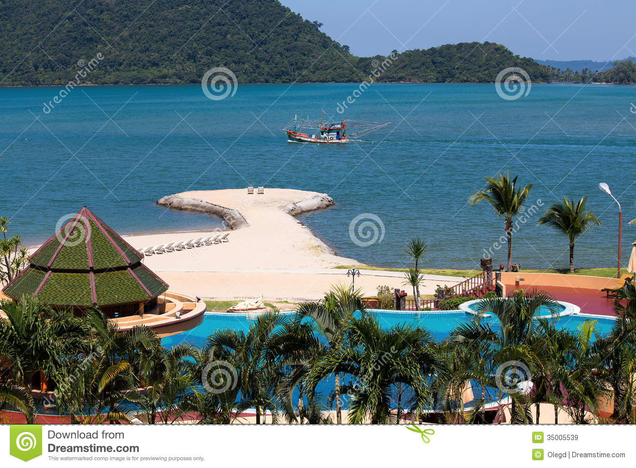 Island Koh Chang Thailand Stock Image Image Of Hotel