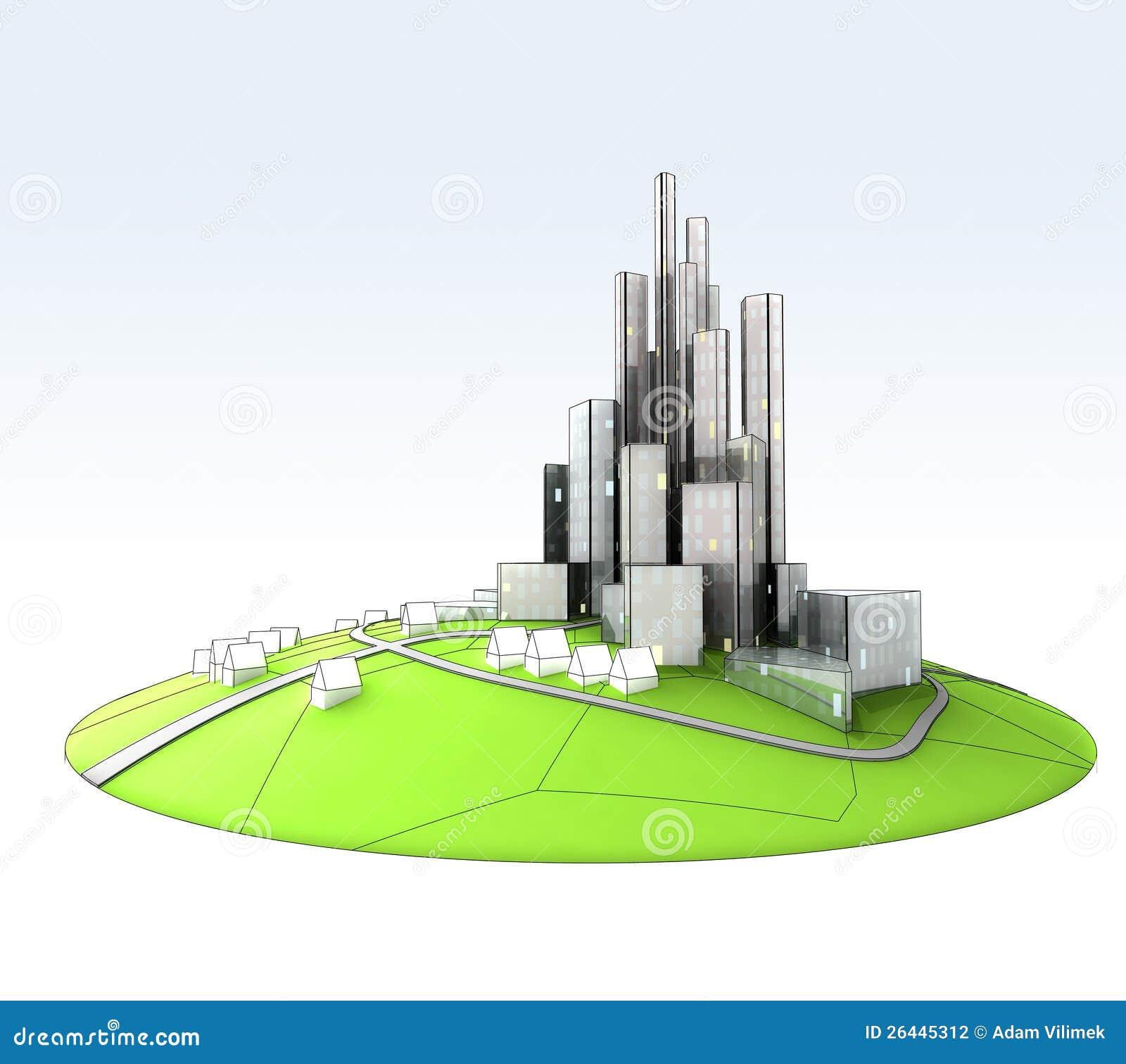 Island Landscape Of Sustainable City Development Stock ...