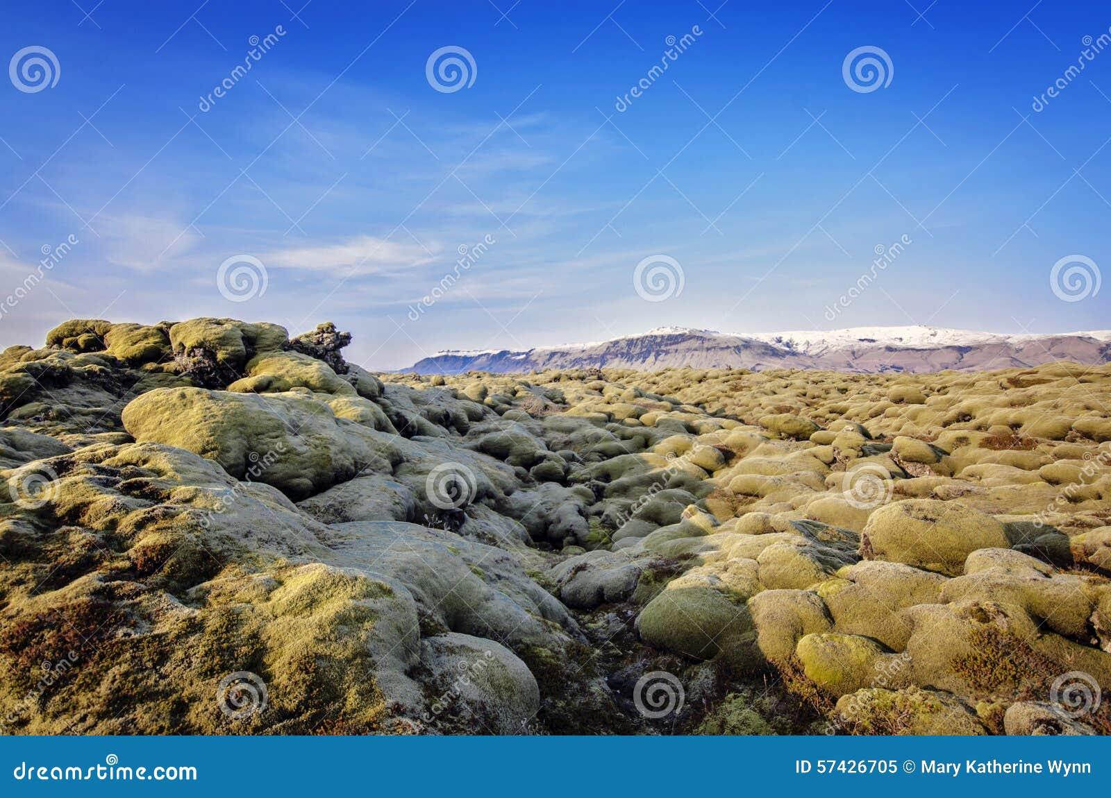 Island lavafält