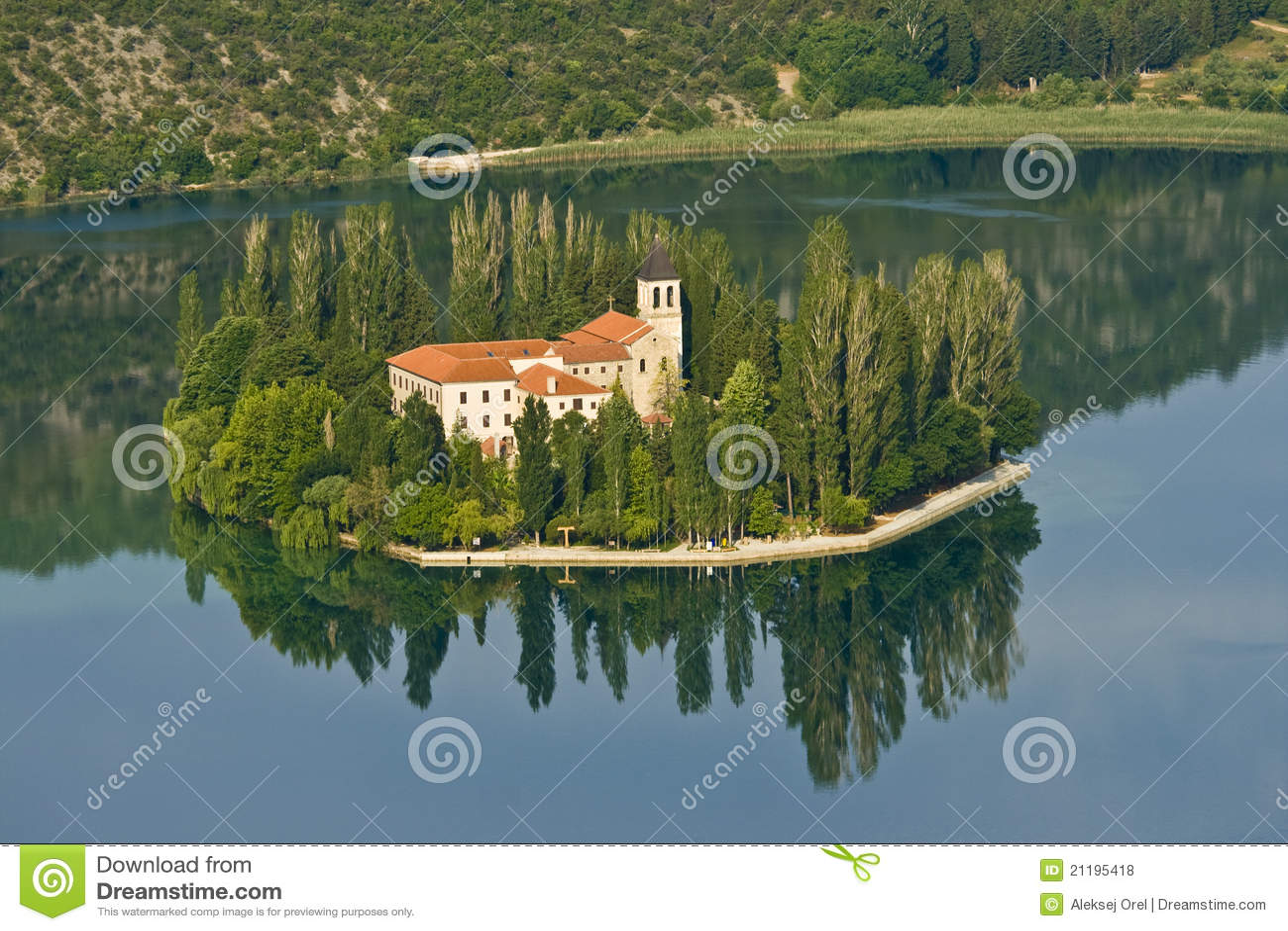 Island and monastery Visovac