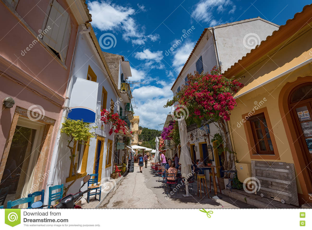 The Island Of Paxos, Greece Editorial Stock Image - Image of port ...