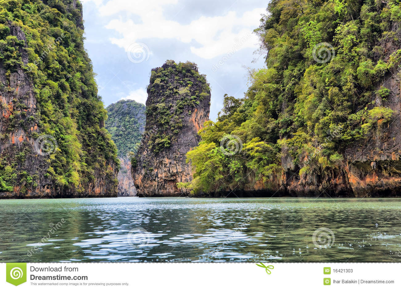 Phang Nga Thailand  city pictures gallery : Island Phang Nga, Thailand Stock Photos Image: 16421303