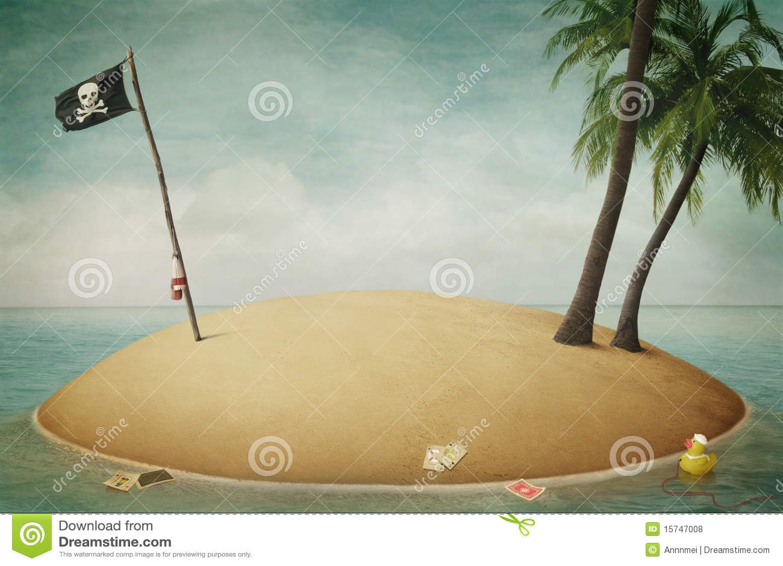 Download Island, Pirates, Adventure And Sea Stock Illustration - Illustration of design, pastel: 15747008