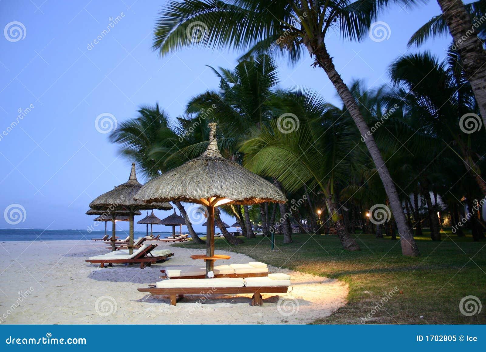 Download Island Umbrellas stock image. Image of palm, romantic - 1702805