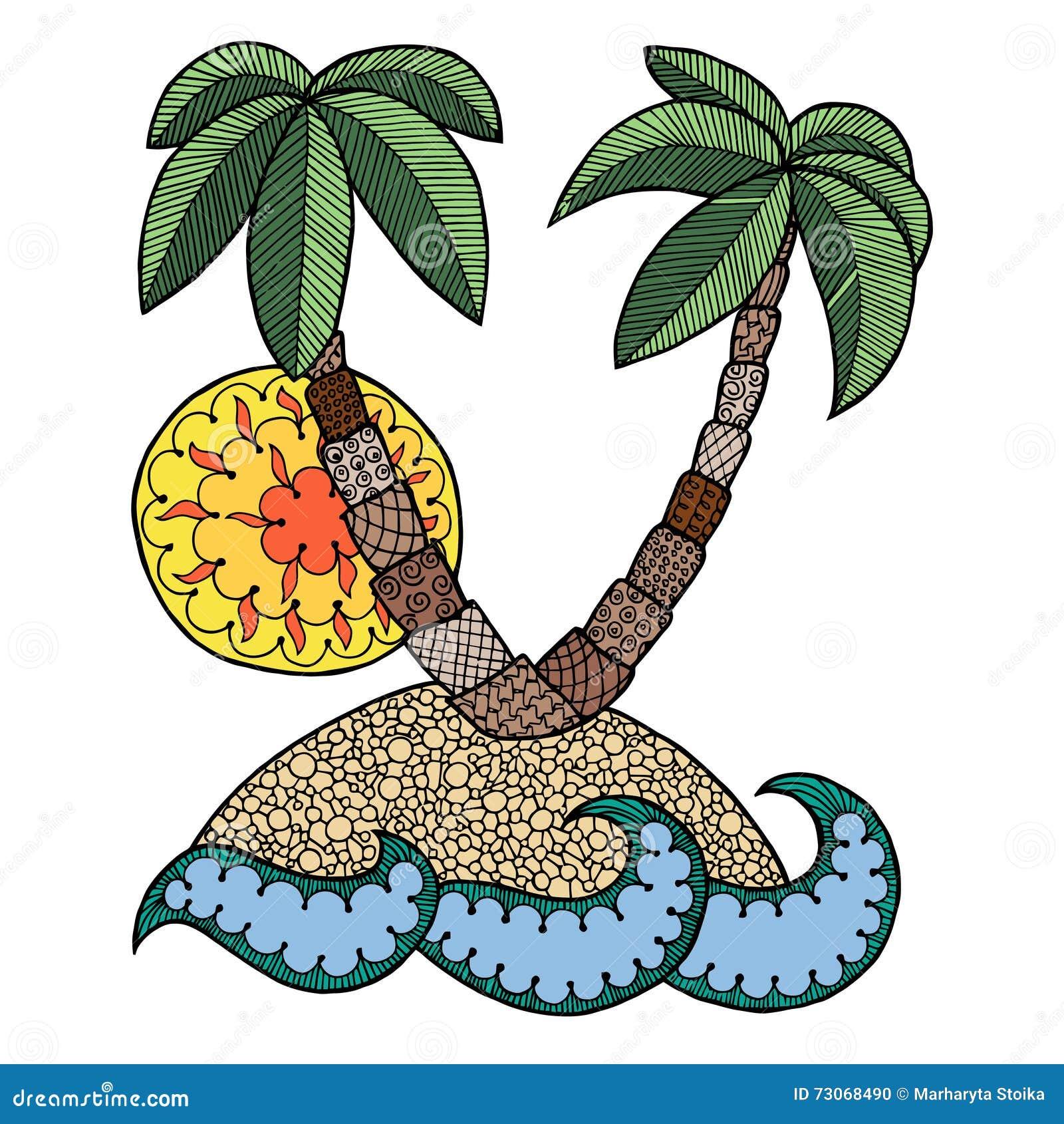 Zen ocean colouring book - Isle Zen Tangle Islet Zen Doodle Coloring Book Sea Zentangle