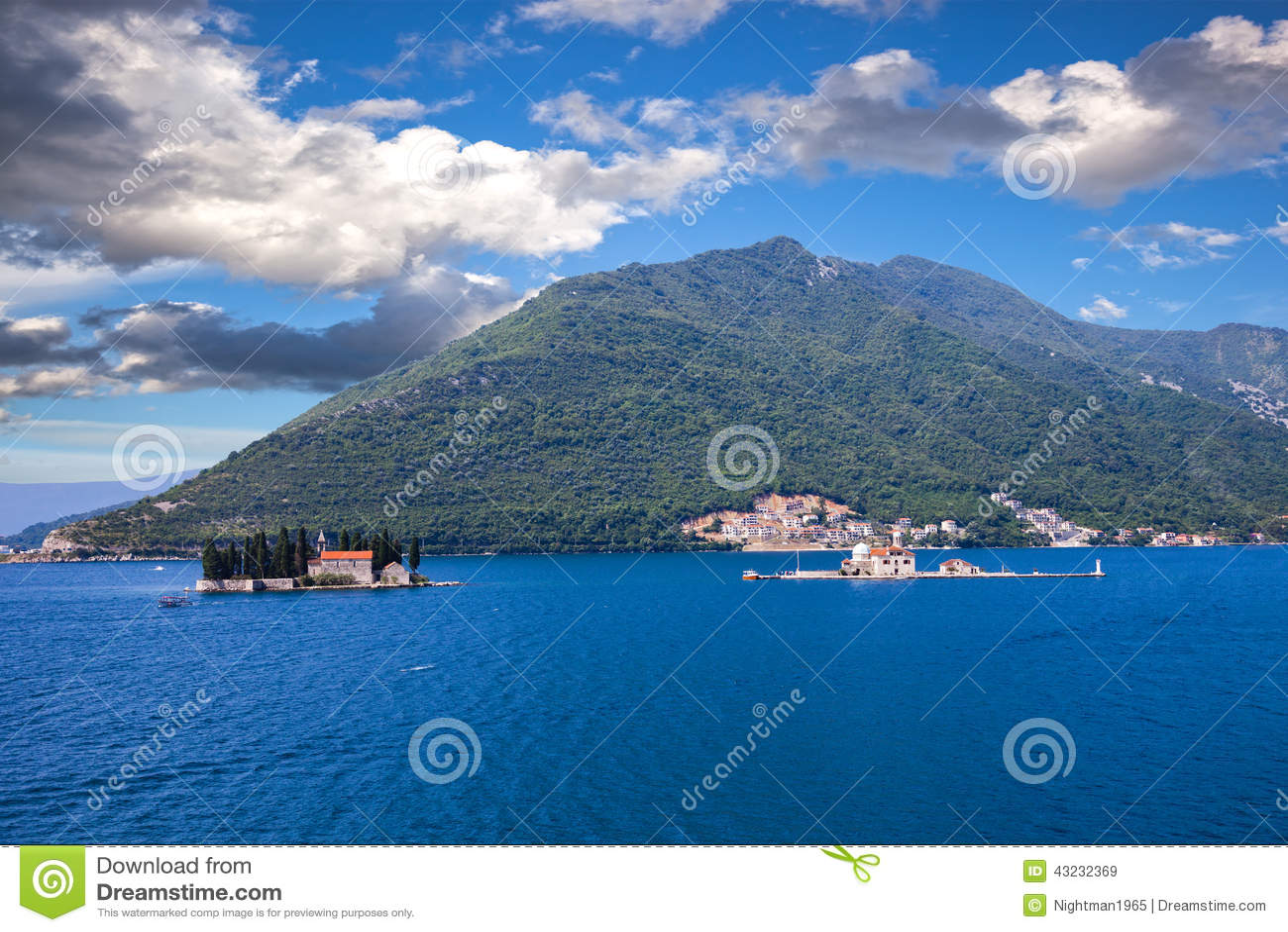 Islands Off The Coast Of Perast Stock Photo - Image: 43232369