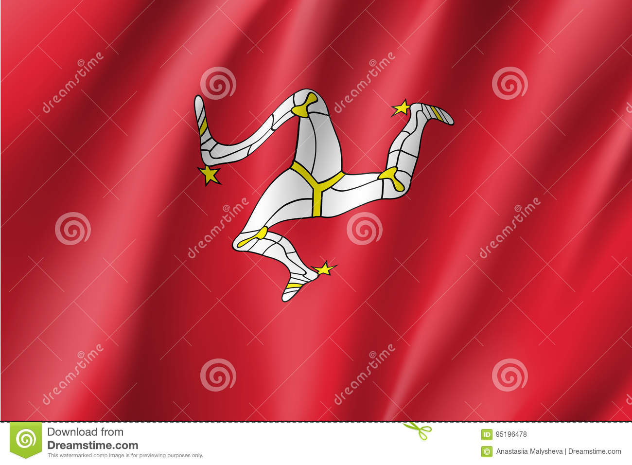 isle of man national flag vector illustration stock vector