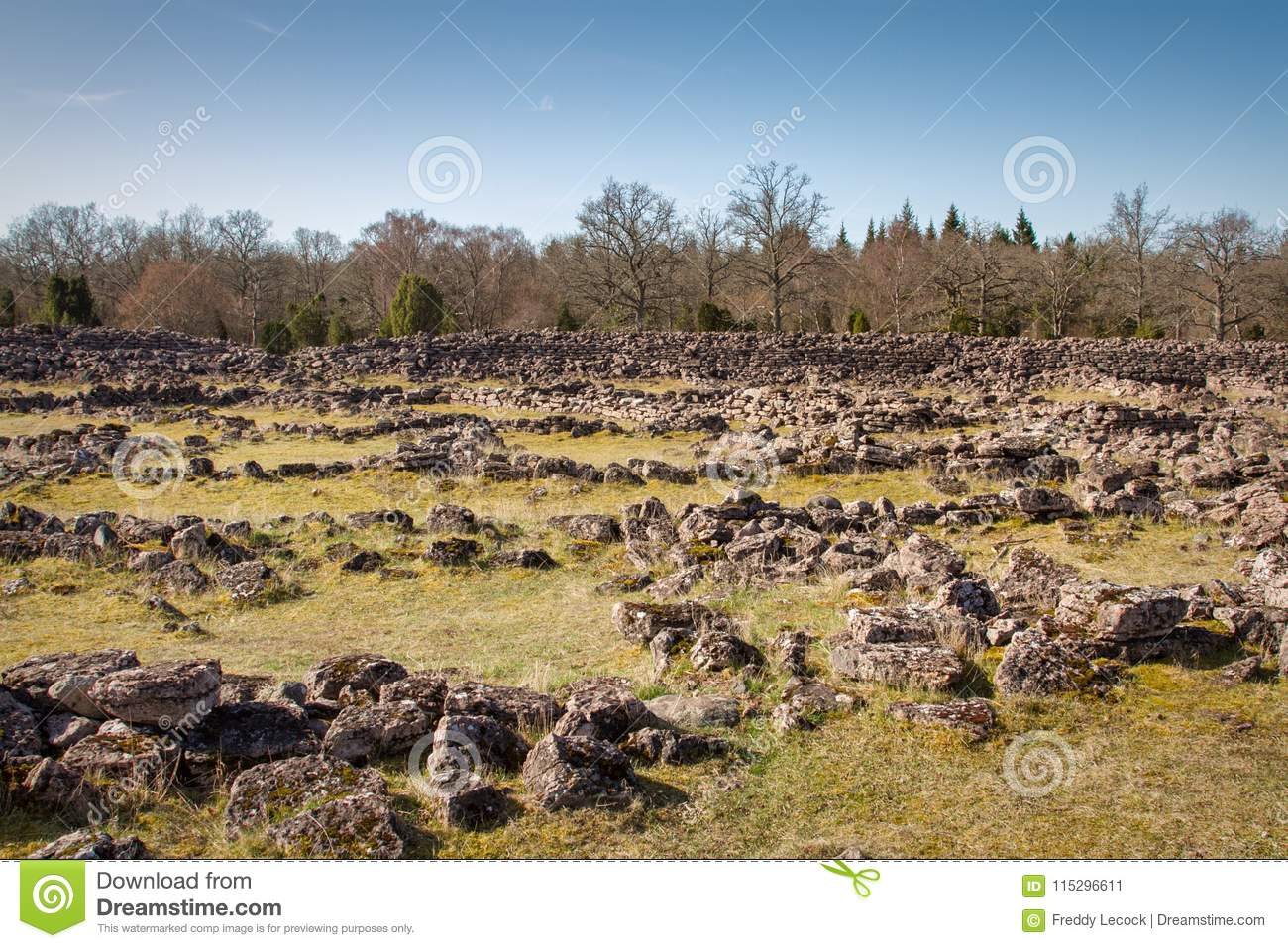 Ismantorp borg stock image  Image of fortress, excavate