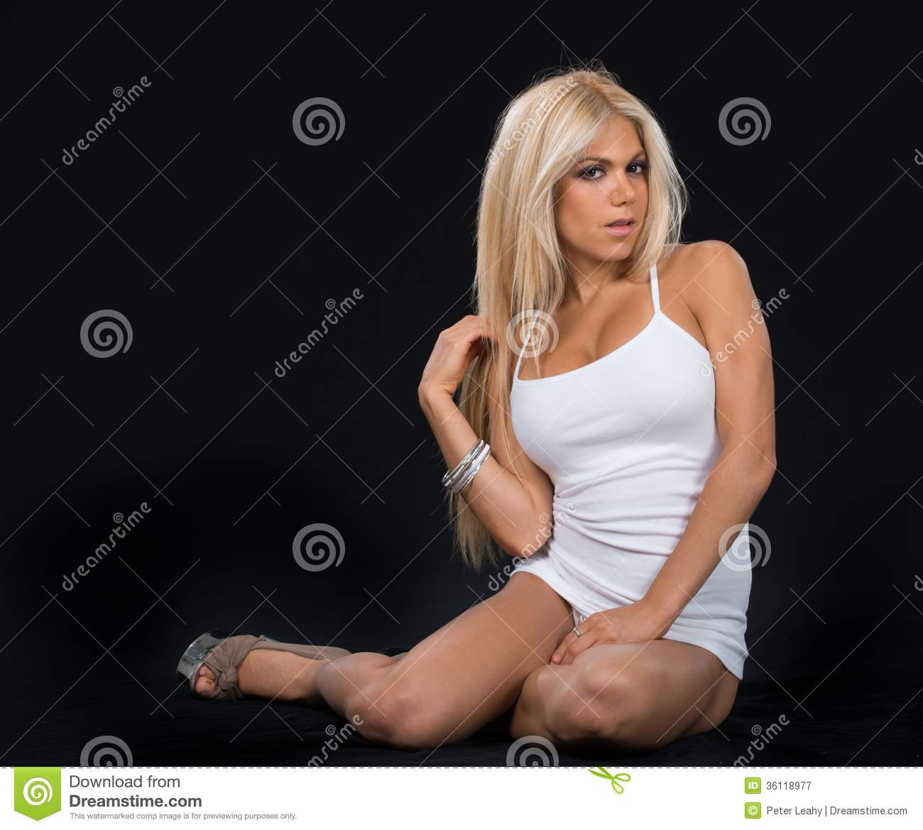 Isn't She Pretty In White Royalty Free Stock Photography - Image ...