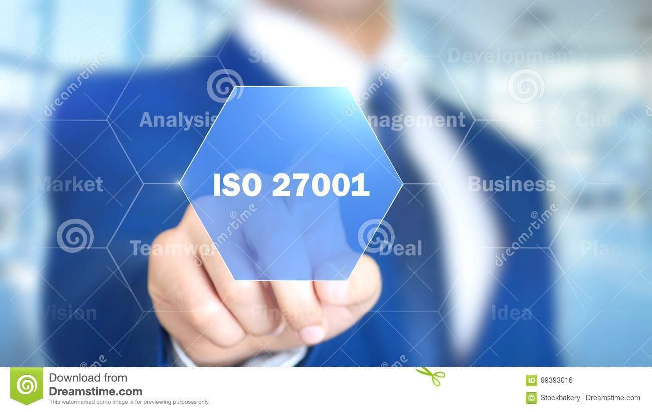 ISO 14001, Businessman working on holographic interface, Motion Graphics