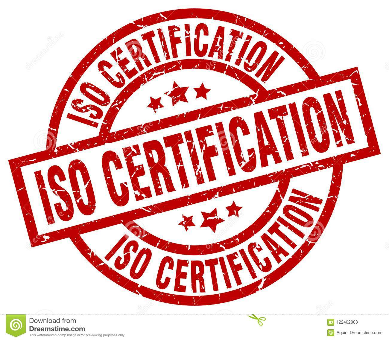 Iso Certification Grunge Vintage Stamp Isolated On White Background Sign