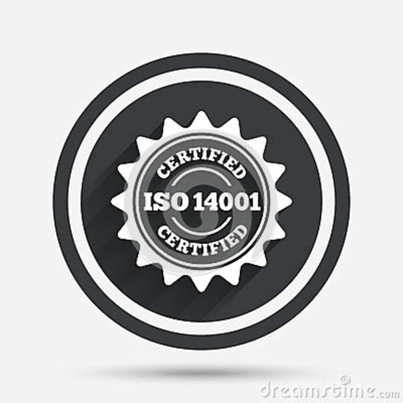 ISO 14001 Certified Sign. Certification Stamp. Stock Vector ...