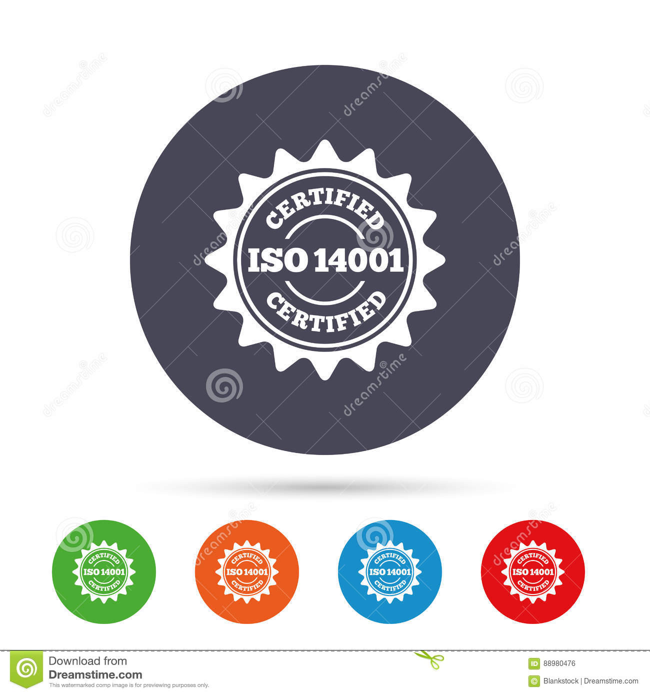 ISO 14001 Certified Sign Certification Stamp