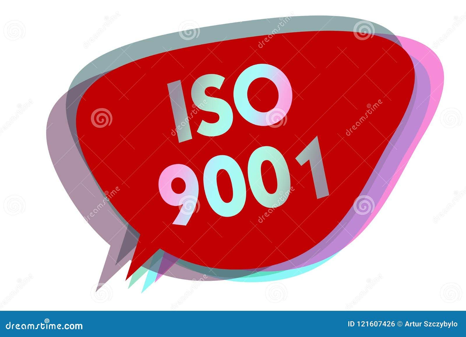 Iso 9001 för ordhandstiltext Affärsidéen för att planlagda hjälporganisationer ska se till möter behoven av kundanförandebubbla I