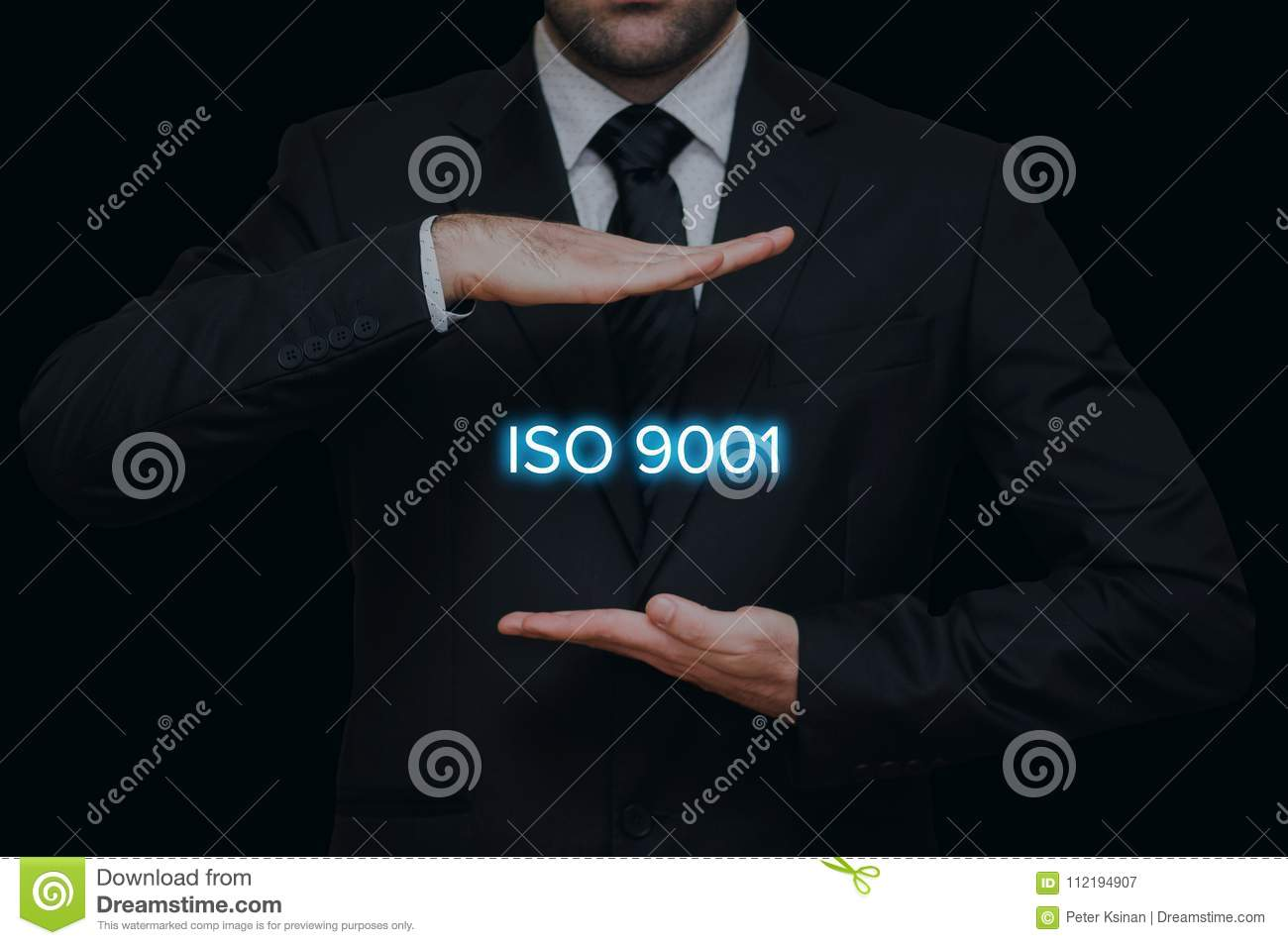 ISO 9001 standard concept