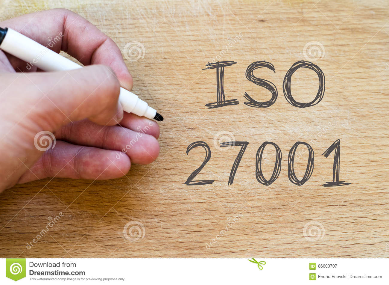 Iso 27001 text concept