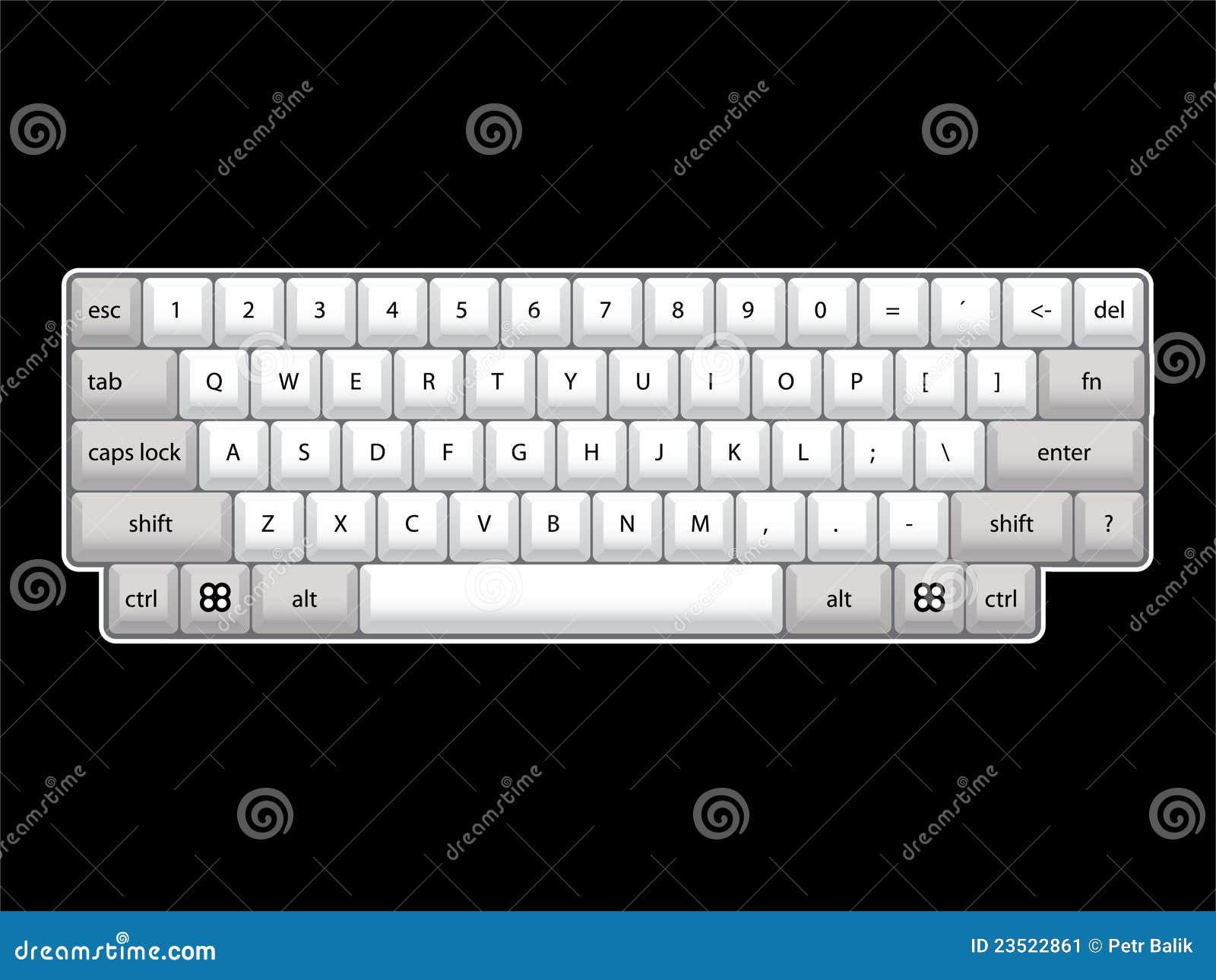 isoated计算机键盘格式-可实现的例证.图片
