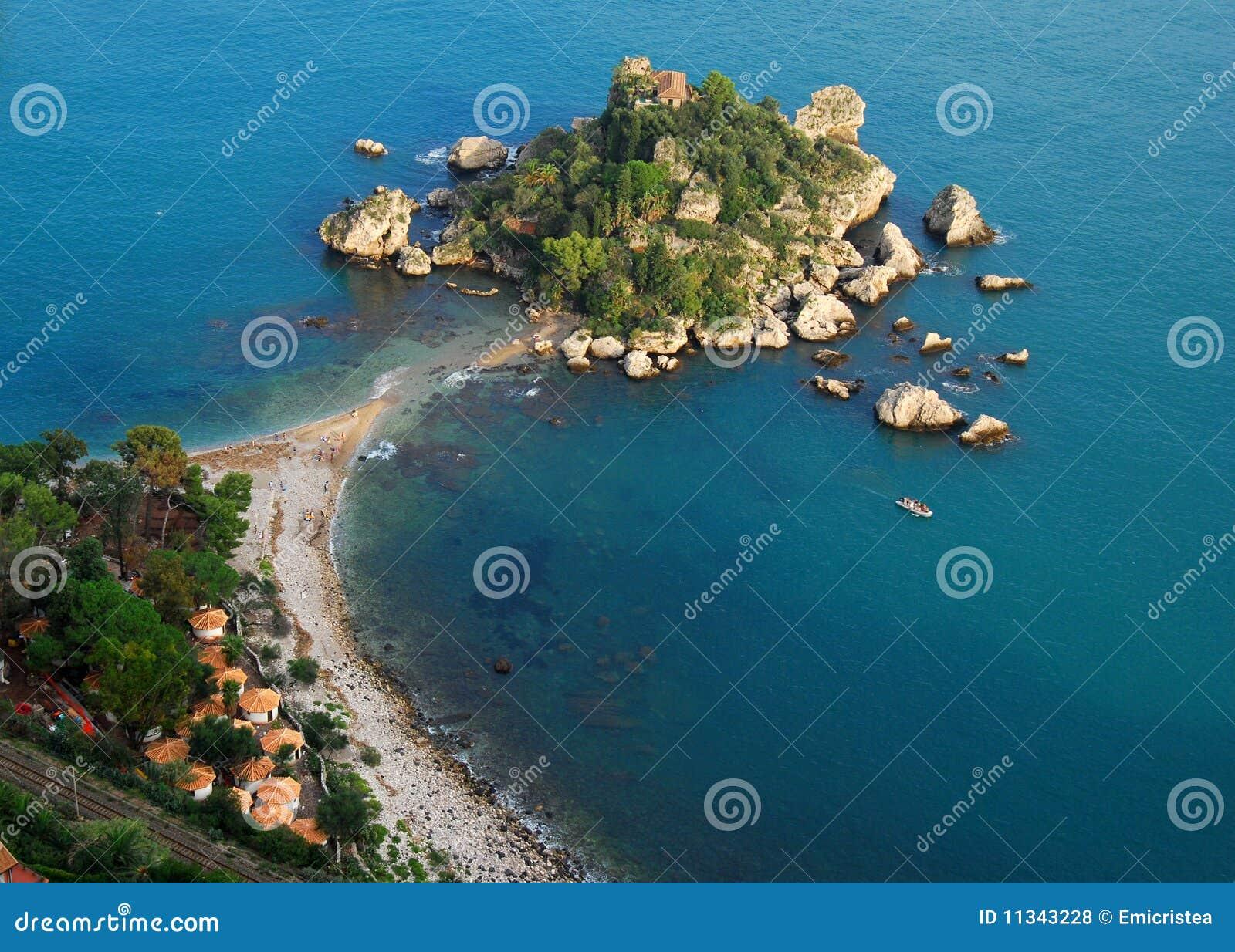 Isola Bella em Taormina (Sicília, Italy)