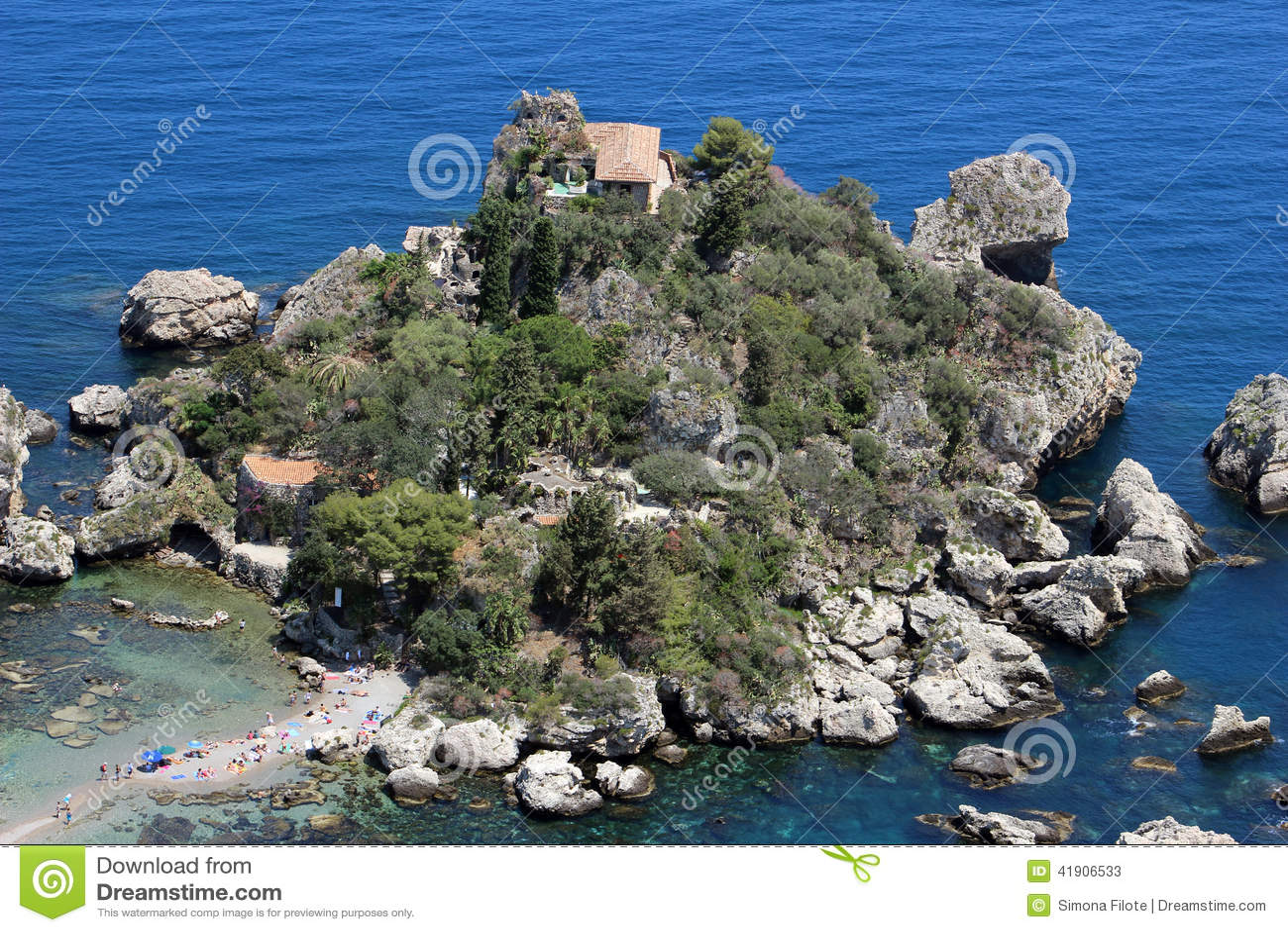 Isola Bella en Taormina, Italia