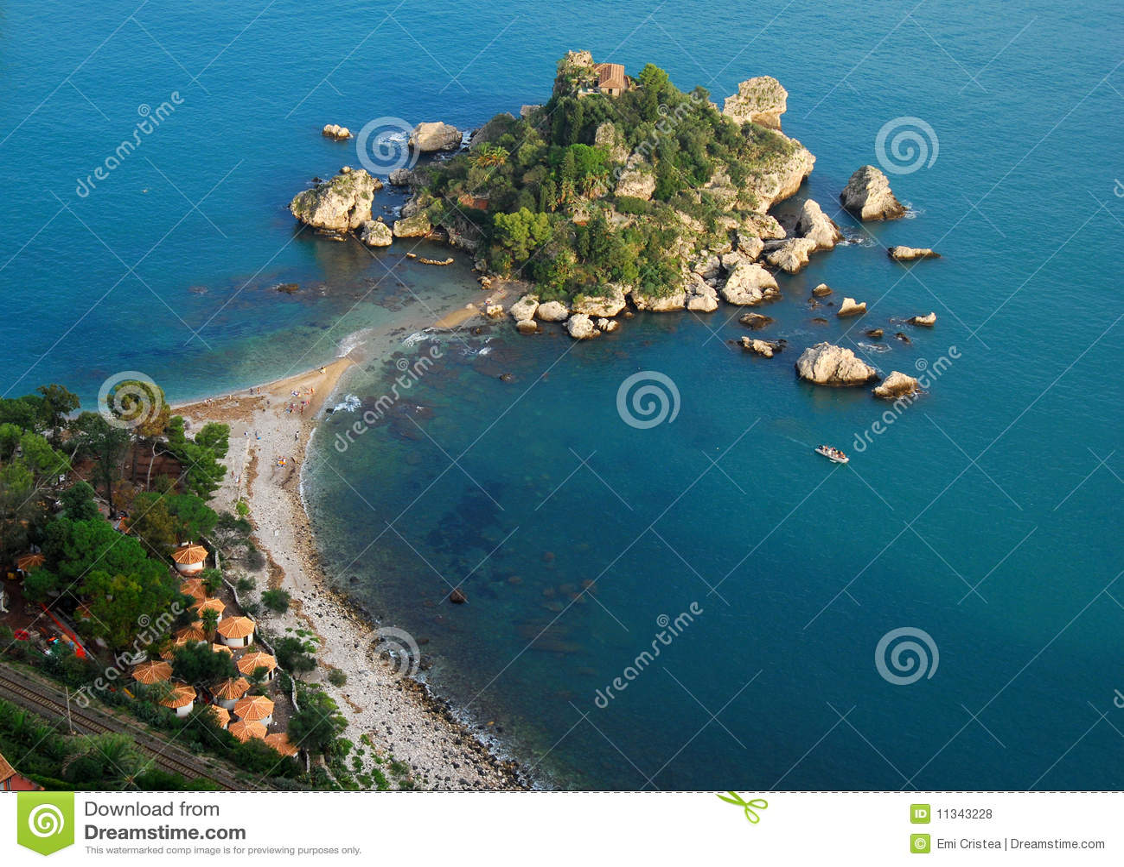 Isola Bella en Taormina (Sicilia, Italia)