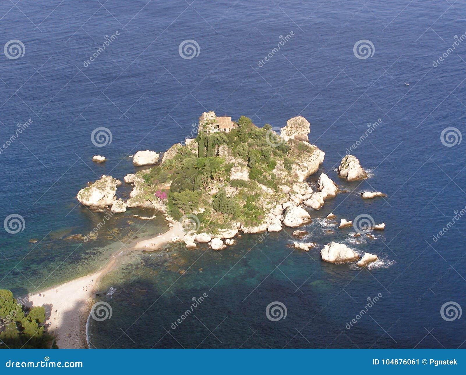 Isola Bella Taormina Sicily Italy medelhavet