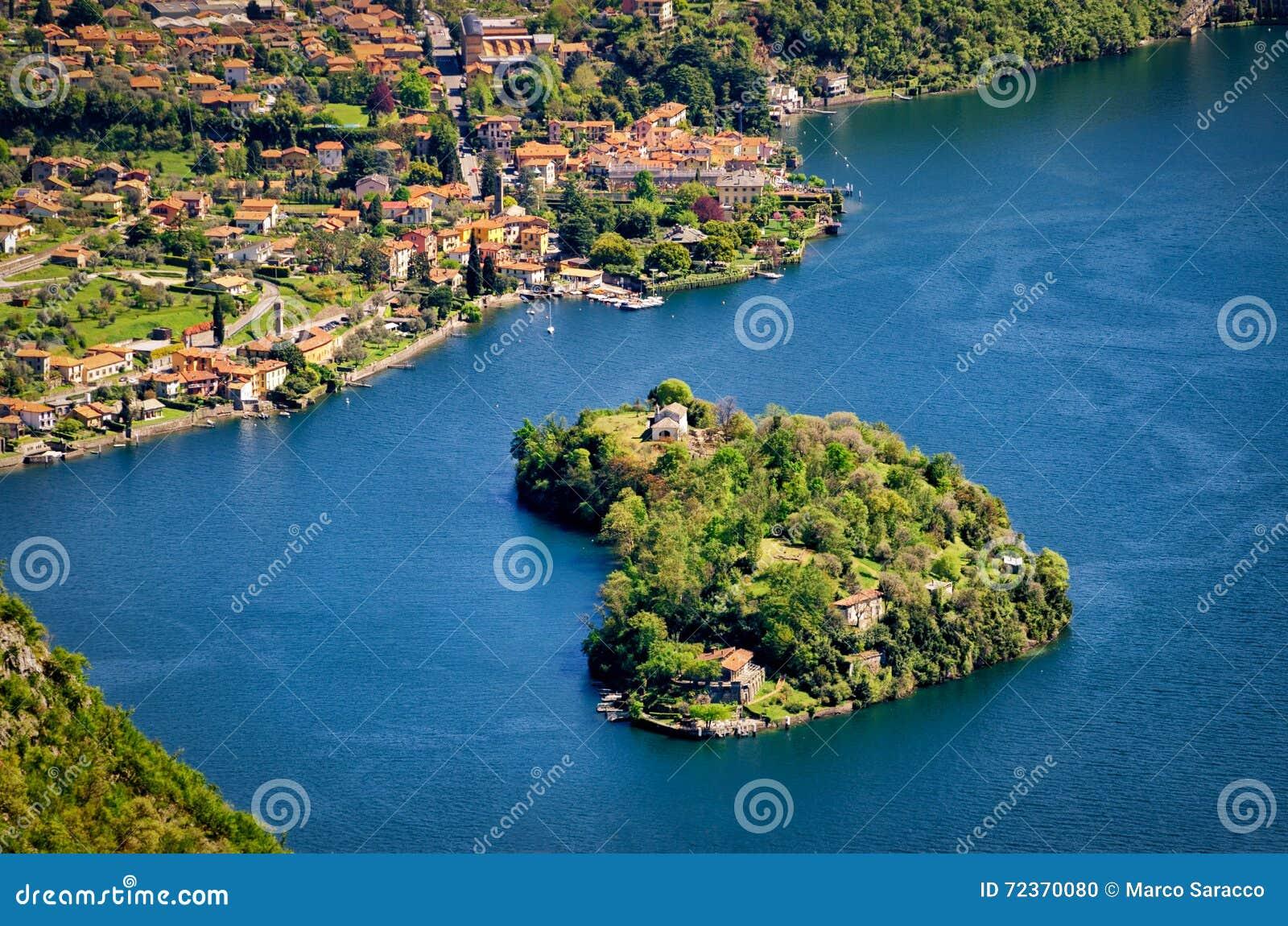 Isola Comacina nel Lago二科莫