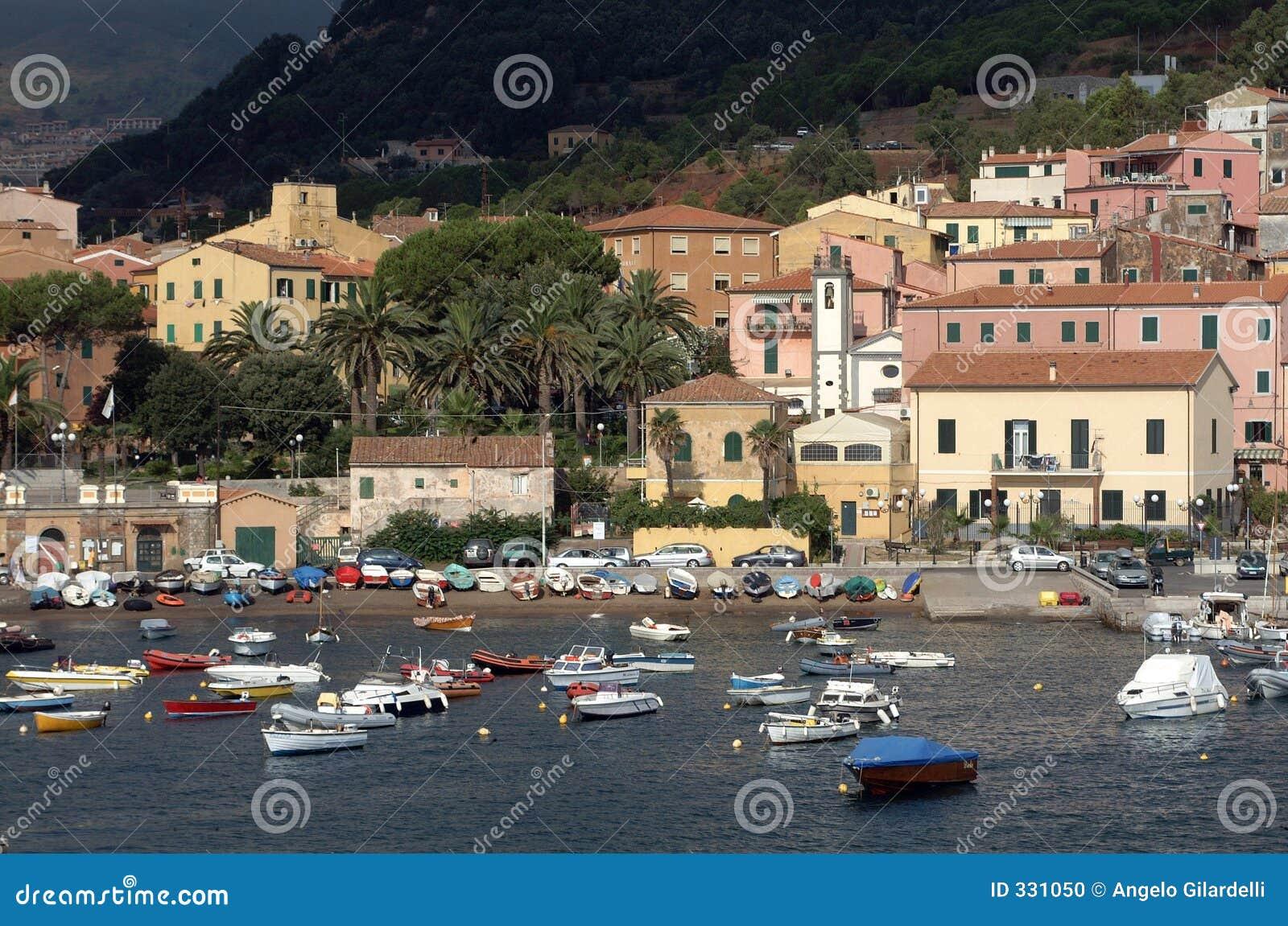 Porto Azzurro Italy  city photos gallery : Isola D'elba Porto Azzurro Stock Photo Image: 331050
