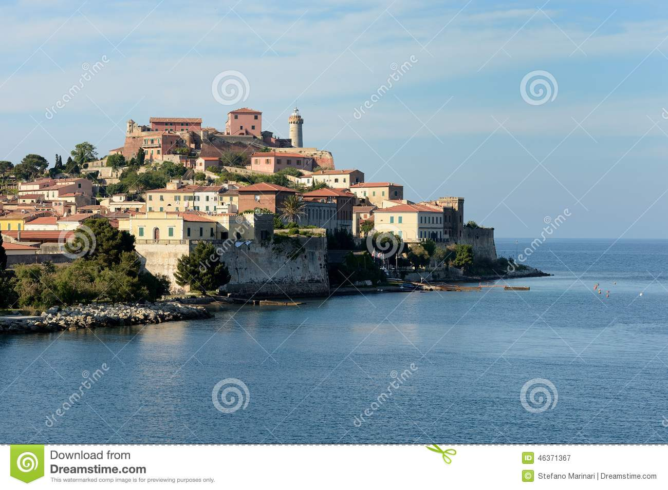 Elba Harbor Entrance Stock Photos & Elba Harbor Entrance Stock ...