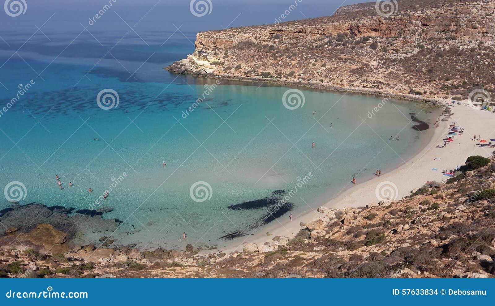 Isola-dei conigli Lampedusa Italien