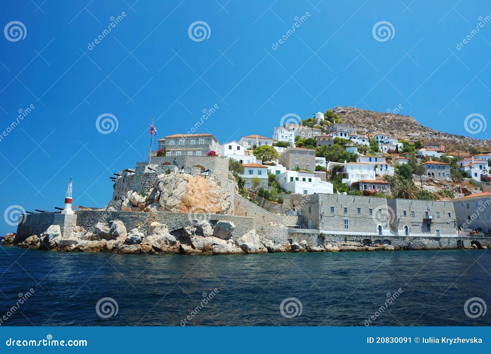 Isola del Hydra - isola di Saronic della Grecia