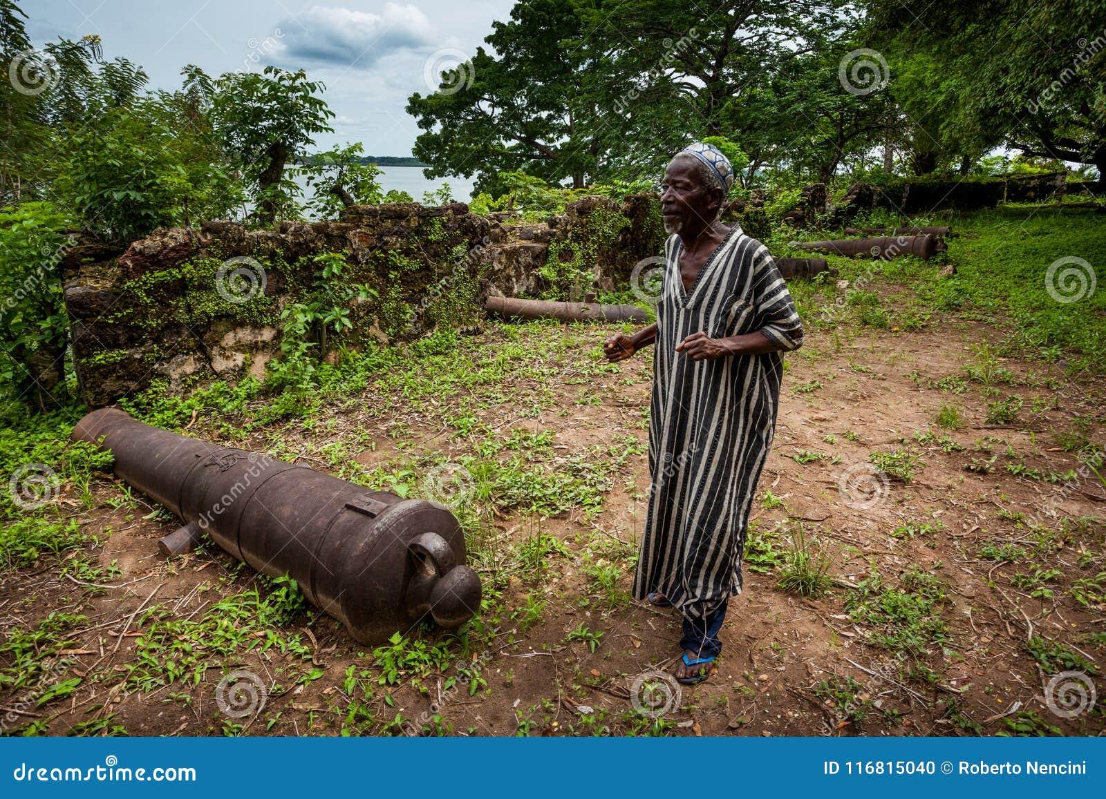 Isola di Bunce, Sierra Leone, Africa occidentale - commercio britannico dello schiavo