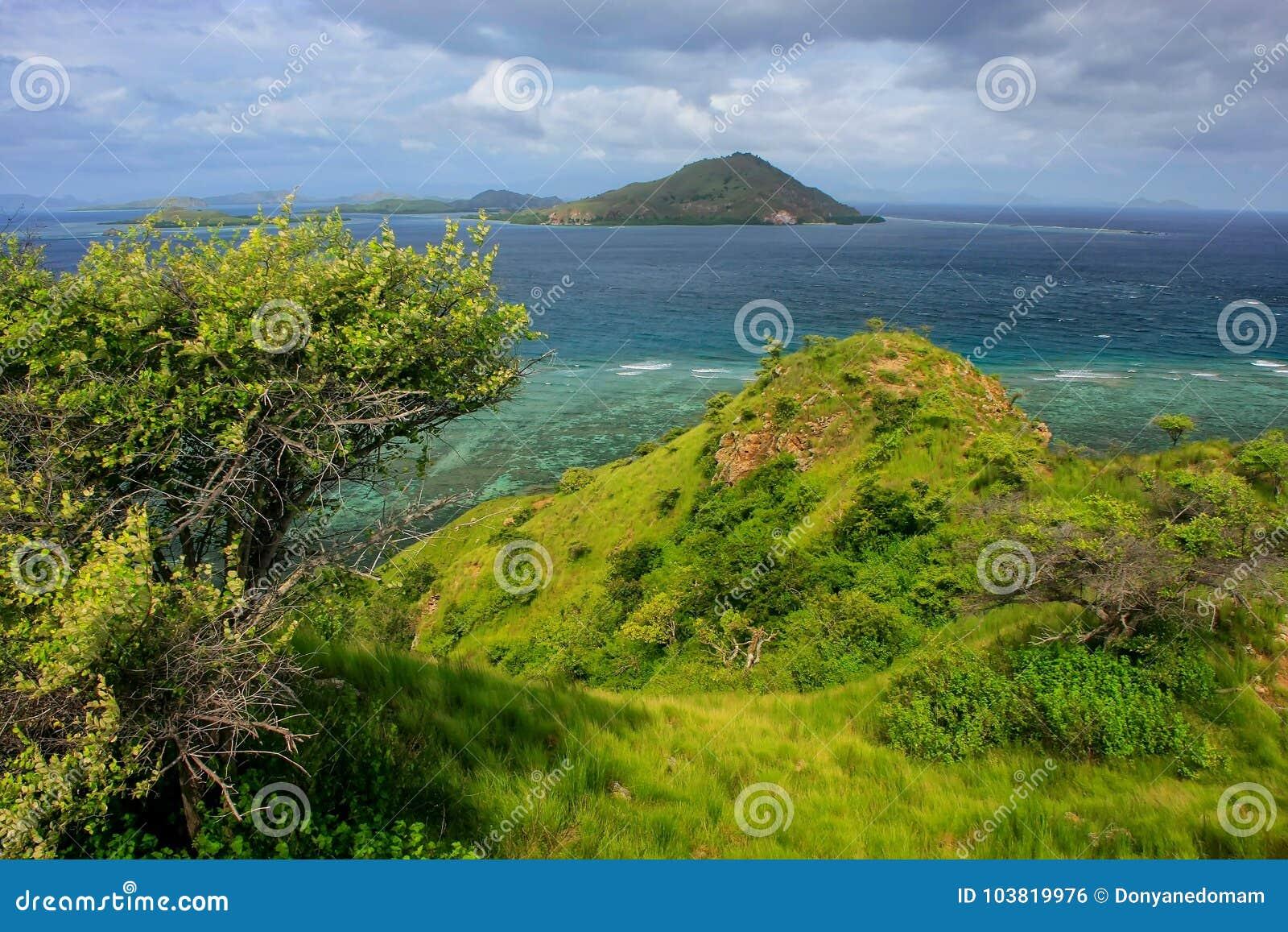 Isola di Kanawa nel mare del Flores, Nusa Tenggara, Indonesia