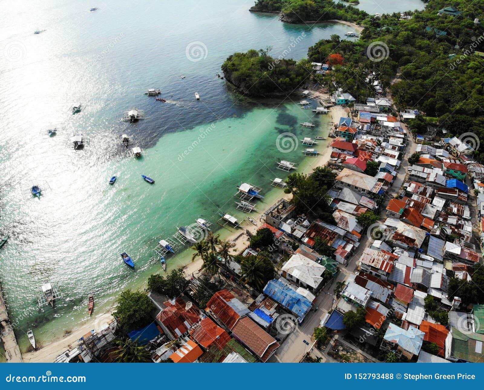 Isola di Malapascua da sopra - le Filippine