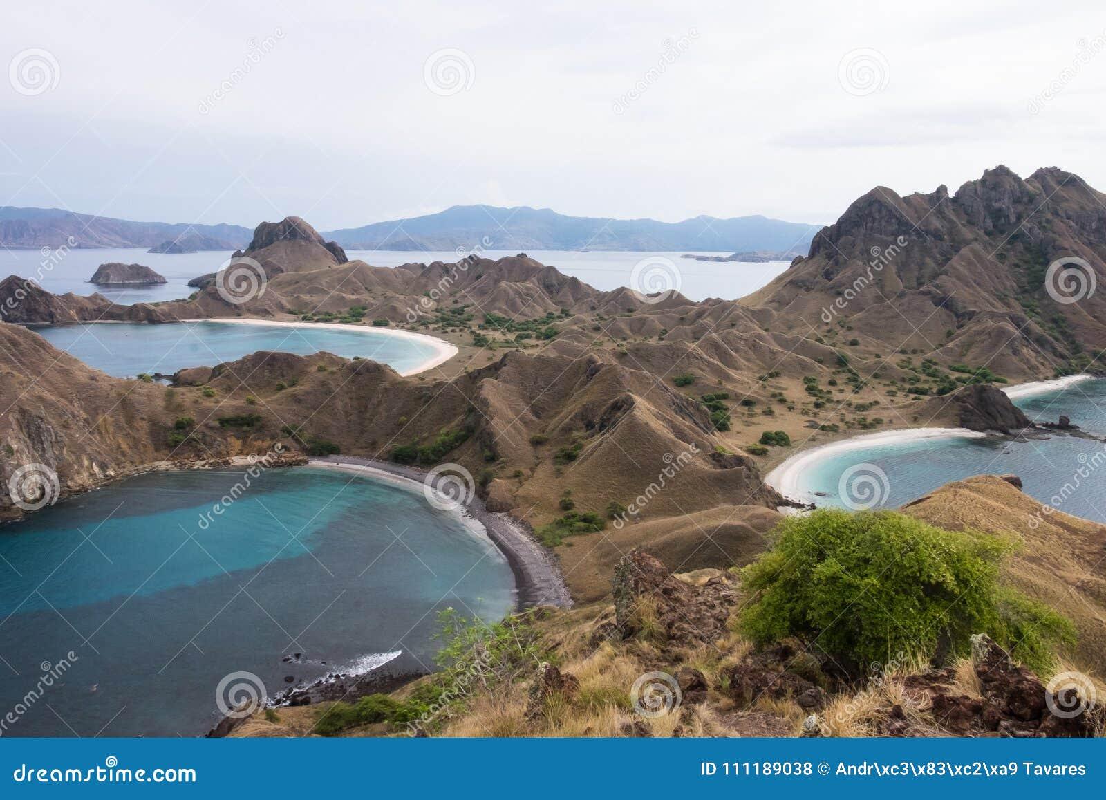 Isola di Padar in Labuan Bajo, Flores Indonesia