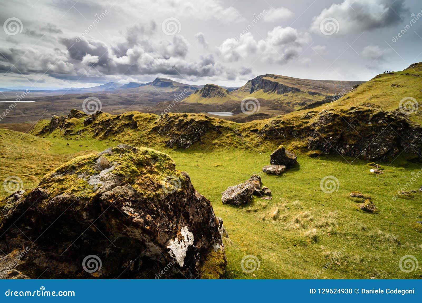 Isola di skye, montagna di Quiraing, paesaggio scenico della Scozia