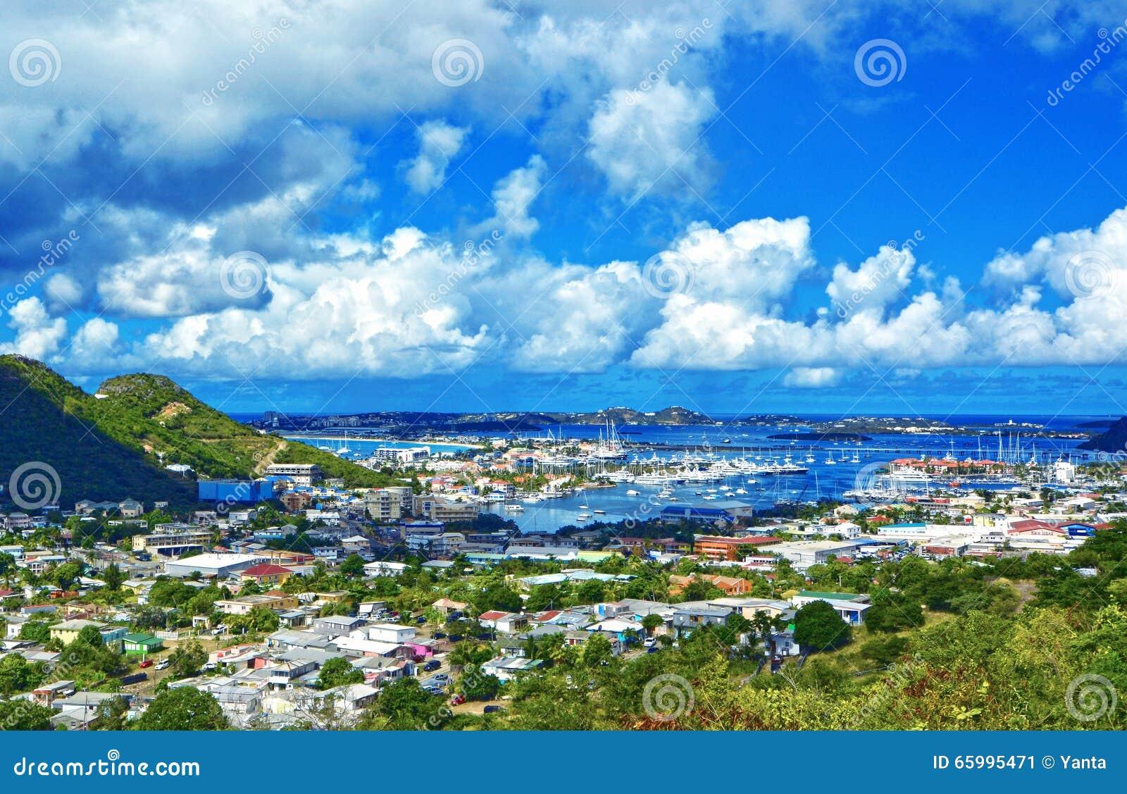 Isola di st martin mar dei caraibi immagine stock for Isola di saint honore caraibi