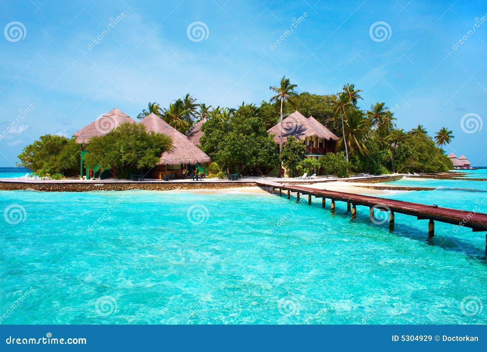 Download Isola Nell'oceano. Benvenuto Al Paradiso! Immagine Stock - Immagine di coco, calma: 5304929