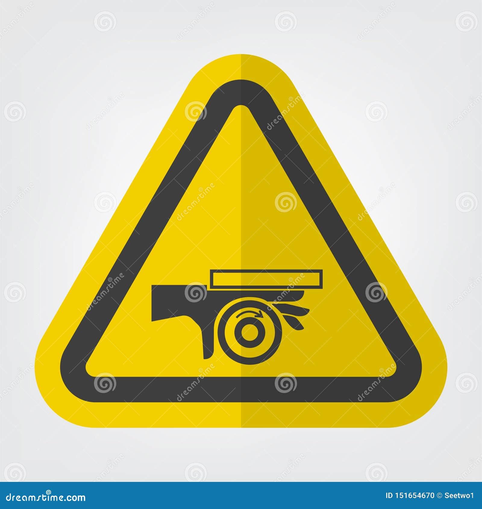 Isolado do sinal do símbolo do ponto de pitada do rolo do esmagamento da mão no fundo branco, ilustração EPS do vetor 10