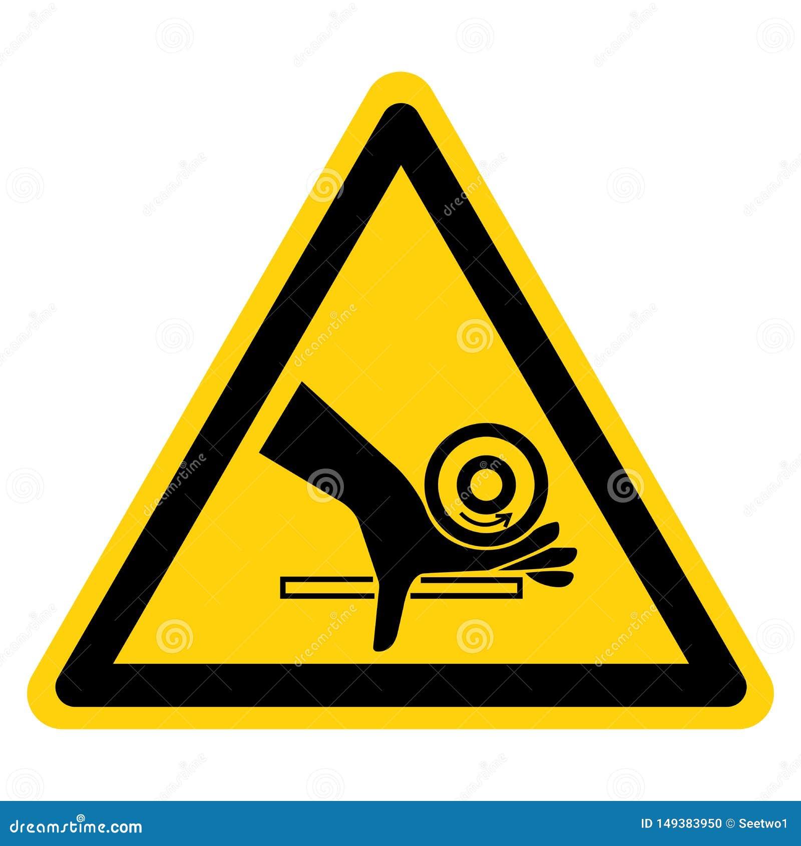 Isolado do sinal do s?mbolo do ponto de pitada do rolo do esmagamento da m?o no fundo branco, ilustra??o do vetor